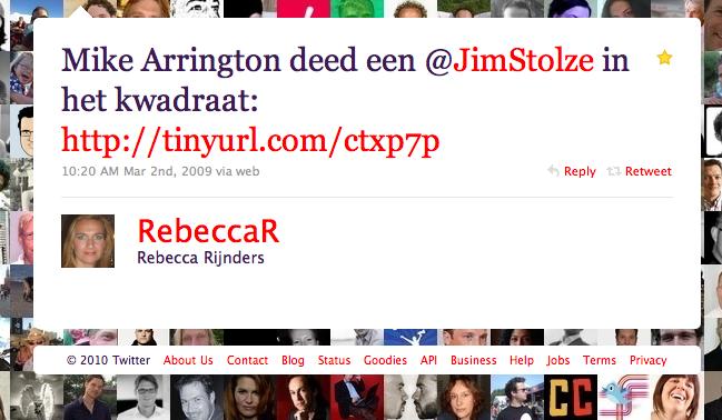 Rebecca Rijnders over Michael Arrington