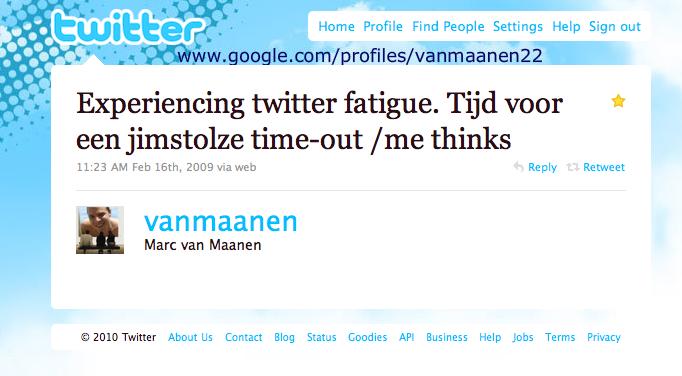 Joost over Twitter-Fatique